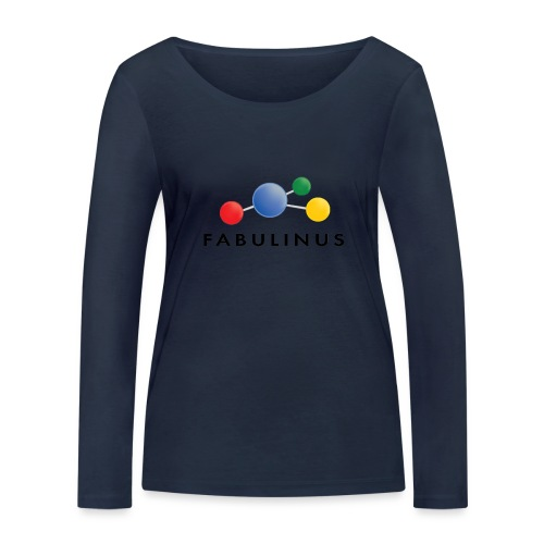 Fabulinus Zwart - Vrouwen bio shirt met lange mouwen van Stanley & Stella