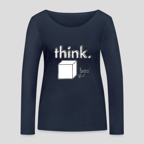 Think Outside The Box Illustration - Women's Organic Longsleeve Shirt by Stanley & Stella