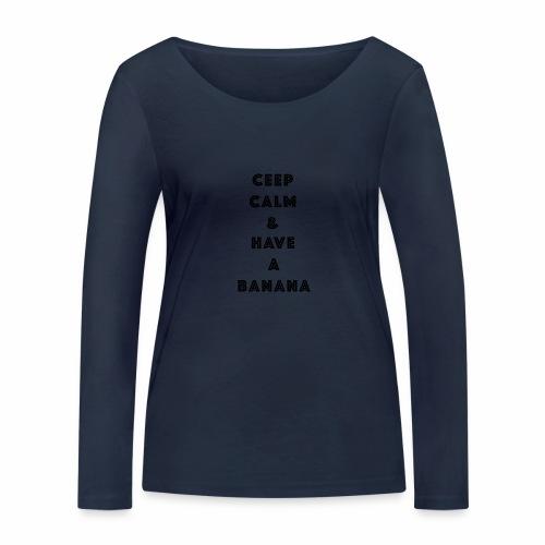 Ceep calm - Økologisk langermet T-skjorte for kvinner fra Stanley & Stella