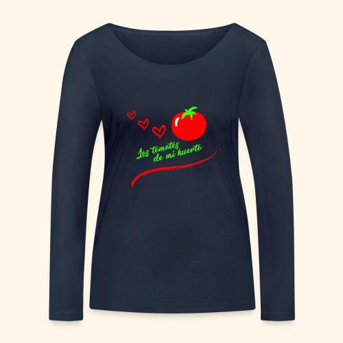 Tomates de mi huerto - Camiseta de manga larga ecológica mujer de Stanley & Stella
