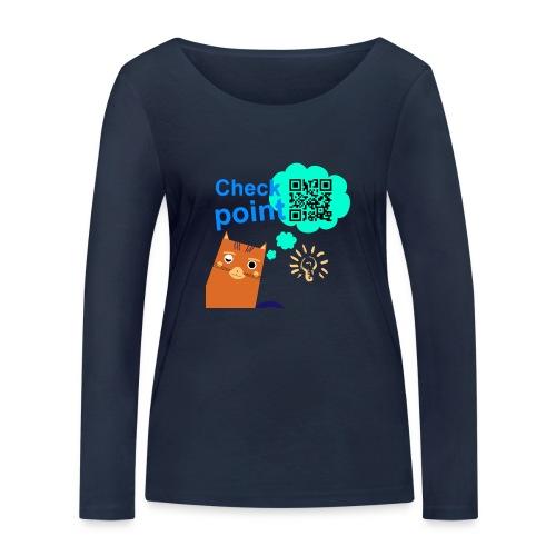Duna Checkpoint - Økologisk langermet T-skjorte for kvinner fra Stanley & Stella