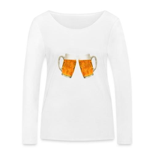 Zwei Bier - Frauen Bio-Langarmshirt von Stanley & Stella