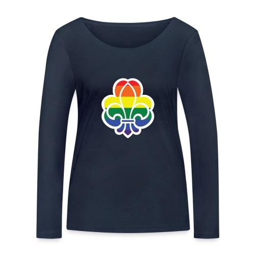 Regnbuespejder jakker og t-shirts mv - Økologisk Stanley & Stella langærmet T-shirt til damer