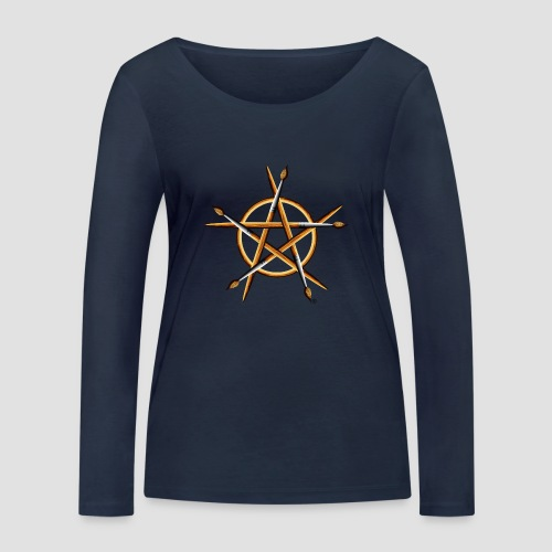 PAGAN PAINTER - Women's Organic Longsleeve Shirt by Stanley & Stella