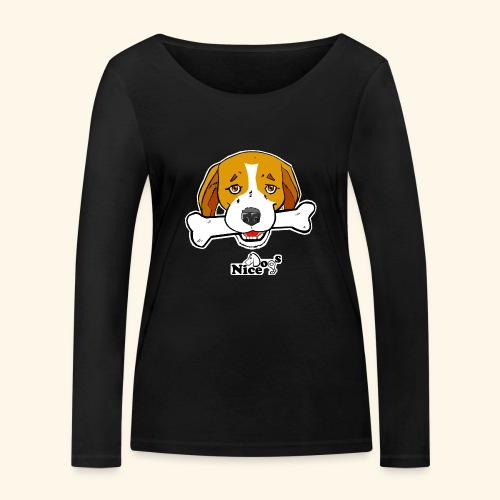 Nice Dogs Semolino - Maglietta a manica lunga ecologica da donna di Stanley & Stella