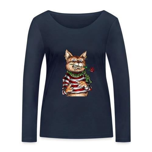 T-shirt - Crazy Cat - T-shirt manches longues bio Stanley & Stella Femme