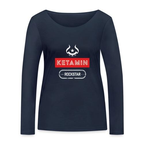 KETAMIN Rock Star - Weiß/Rot - Modern - Women's Organic Longsleeve Shirt by Stanley & Stella