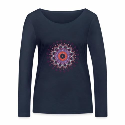 Orange mandala - Økologisk Stanley & Stella langærmet T-shirt til damer