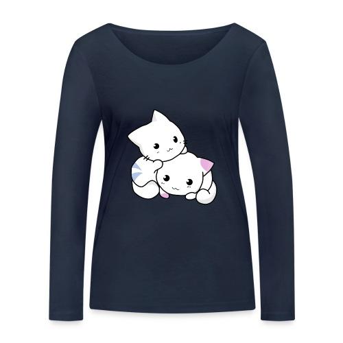 sweet cats - Frauen Bio-Langarmshirt von Stanley & Stella