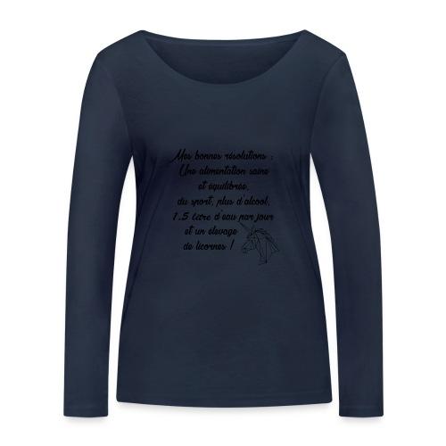 MES BONNES RESOLUTIONS - T-shirt manches longues bio Stanley & Stella Femme