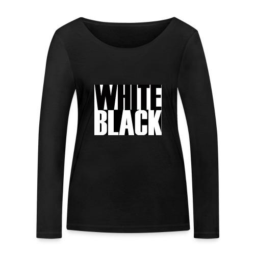 White, Black T-shirt - Vrouwen bio shirt met lange mouwen van Stanley & Stella