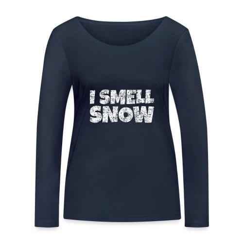 I Smell Snow Schnee, Weihnachten & Wintersport - Frauen Bio-Langarmshirt von Stanley & Stella