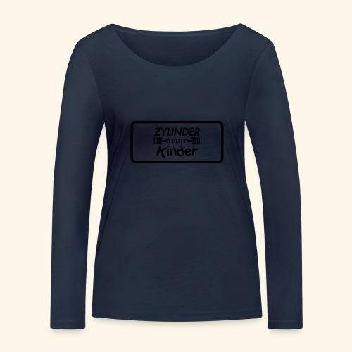Zylinder Statt Kinder - Frauen Bio-Langarmshirt von Stanley & Stella