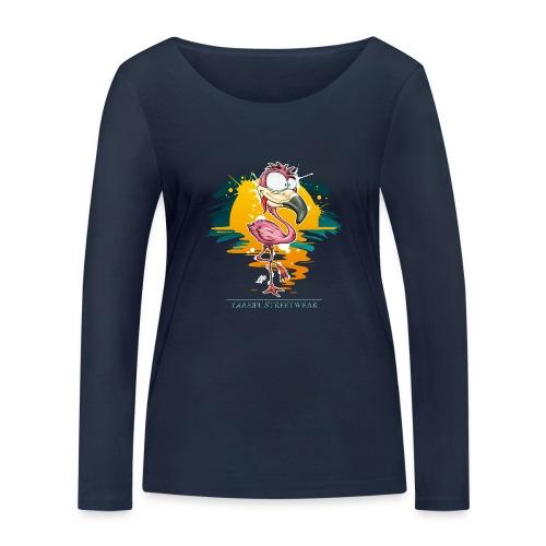 Flamingo Weirdo - Frauen Bio-Langarmshirt von Stanley & Stella