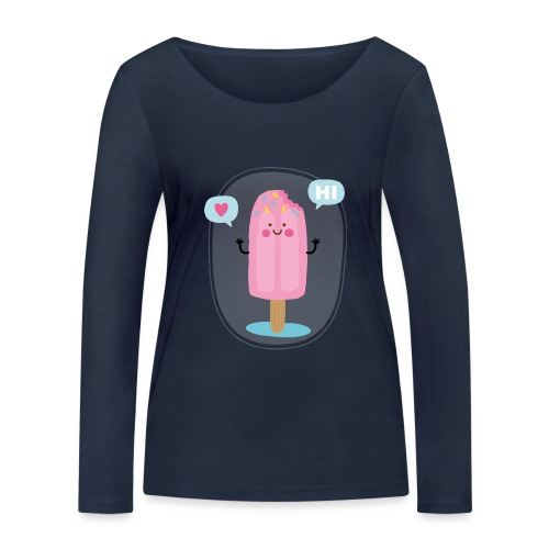 Pink Ice creem - T-shirt manches longues bio Stanley & Stella Femme