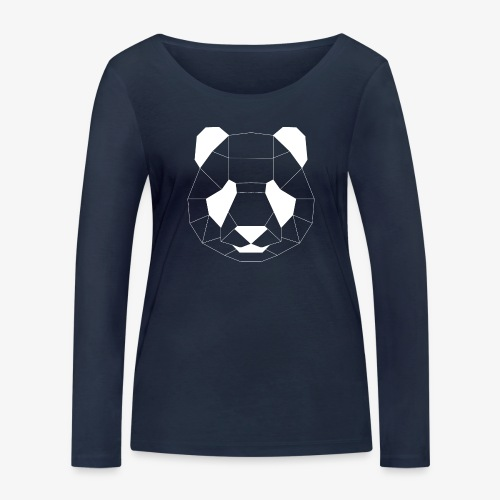Panda Geometrisch weiss - Frauen Bio-Langarmshirt von Stanley & Stella