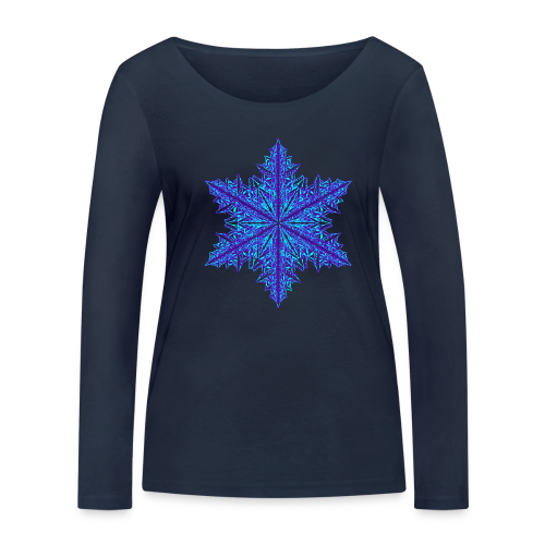 Schneeflocke III - Frauen Bio-Langarmshirt von Stanley & Stella
