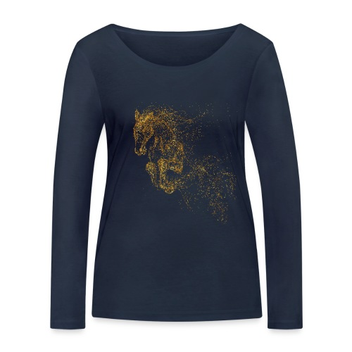 Vorschau: jumping horse gold - Frauen Bio-Langarmshirt von Stanley & Stella