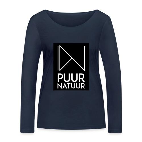 Logo puur natuur negatief - Vrouwen bio shirt met lange mouwen van Stanley & Stella