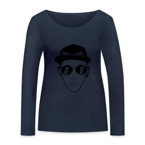 adhex cara - Camiseta de manga larga ecológica mujer de Stanley & Stella