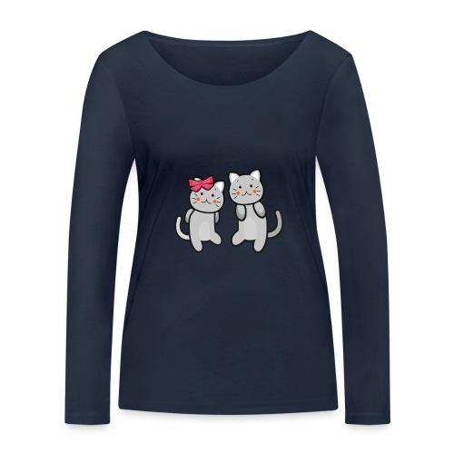 Kotki - Ekologiczna koszulka damska z długim rękawem Stanley & Stella