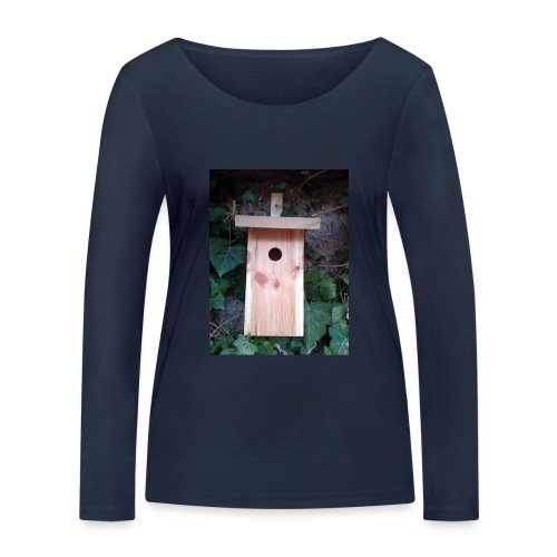 Der Nistkasten - Luxus für den Garten-Vogel - Frauen Bio-Langarmshirt von Stanley & Stella