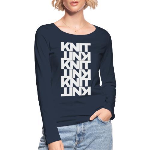 Garter Stitch, light - Women's Organic Longsleeve Shirt by Stanley & Stella