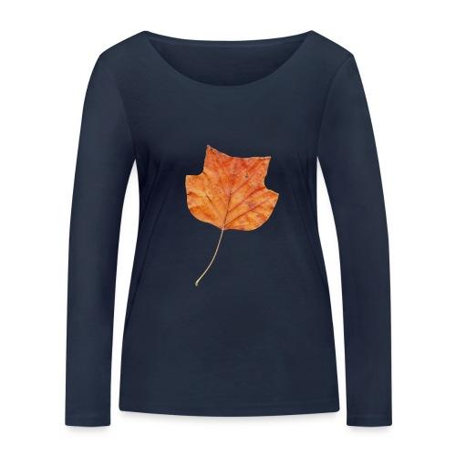 Herbst-Blatt - Frauen Bio-Langarmshirt von Stanley & Stella