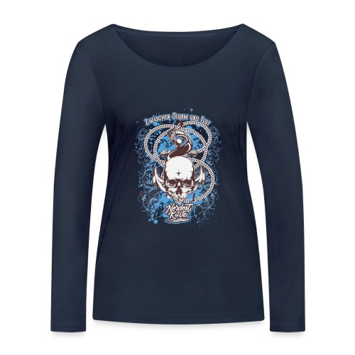 Skull Anker Design Art - Frauen Bio-Langarmshirt von Stanley & Stella