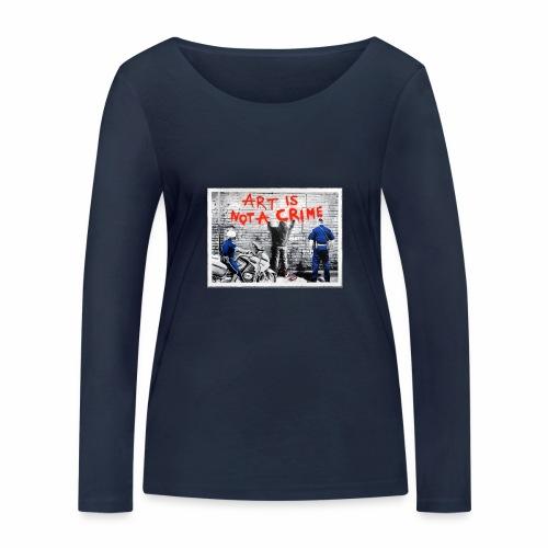 Art I not a crime - Ekologisk långärmad T-shirt dam från Stanley & Stella
