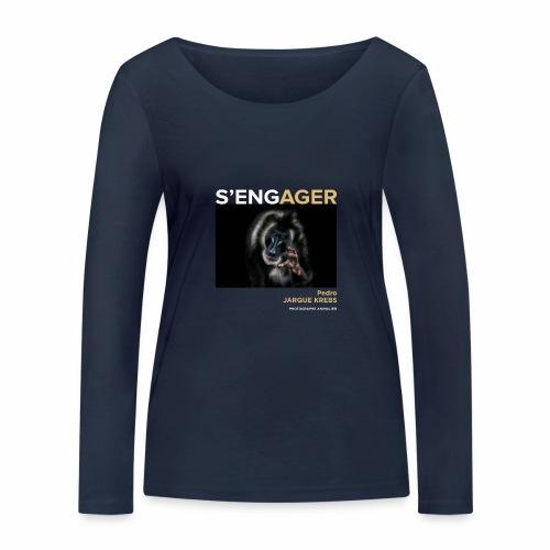 1 Achat = 1 Don à l'association Rainfer - T-shirt manches longues bio Stanley & Stella Femme