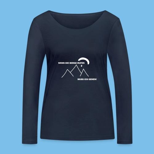 gleitschirmflieger paragliding geschenk tshirt - Frauen Bio-Langarmshirt von Stanley & Stella
