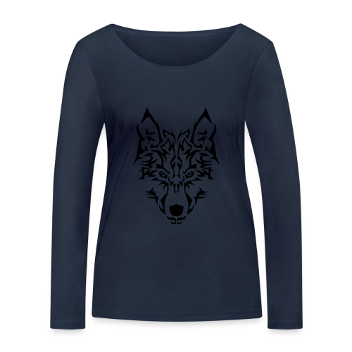 Tribal Wolf - T-shirt manches longues bio Stanley & Stella Femme