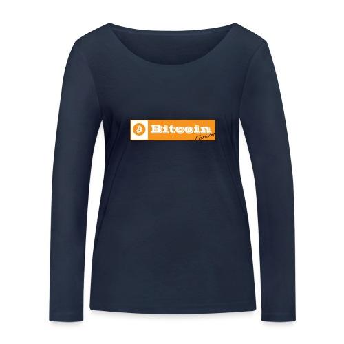 Bitcoin blanc - T-shirt manches longues bio Stanley & Stella Femme
