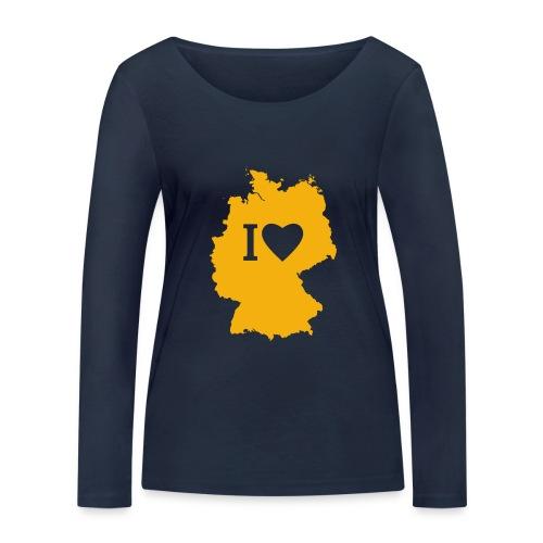 001 Deuchland gelb - Frauen Bio-Langarmshirt von Stanley & Stella