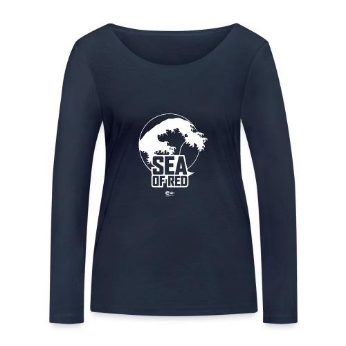 Sea of red logo - white - Women's Organic Longsleeve Shirt by Stanley & Stella