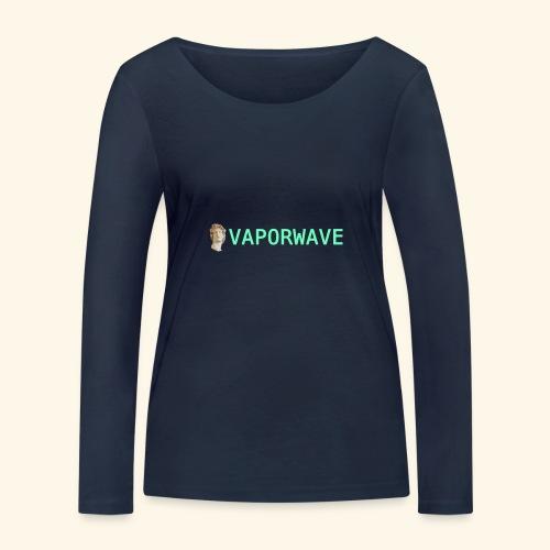 Roman Statue Vaporwave - T-shirt manches longues bio Stanley & Stella Femme