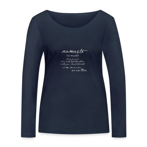 Yoga Namaste - Frauen Bio-Langarmshirt von Stanley & Stella