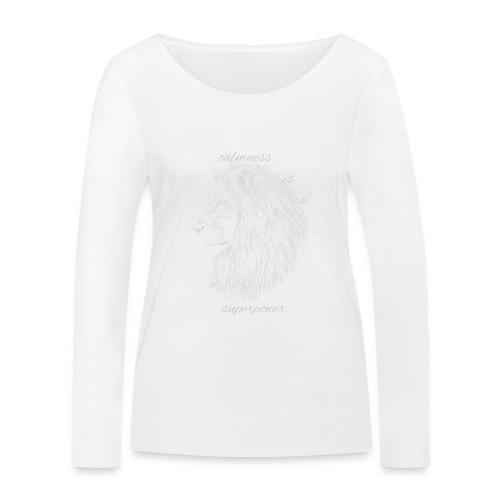 Calmness is a superpower - Maglietta a manica lunga ecologica da donna di Stanley & Stella