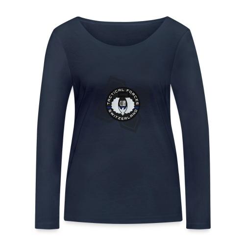 TFS Badge Black - T-shirt manches longues bio Stanley & Stella Femme
