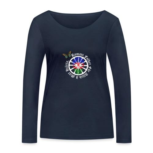 LennyhjulRomaniFolketivitfjerliskulle - Ekologisk långärmad T-shirt dam från Stanley & Stella