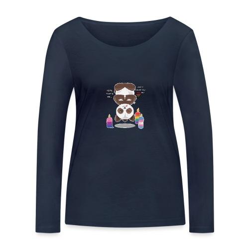 Panda Love - Økologisk Stanley & Stella langærmet T-shirt til damer