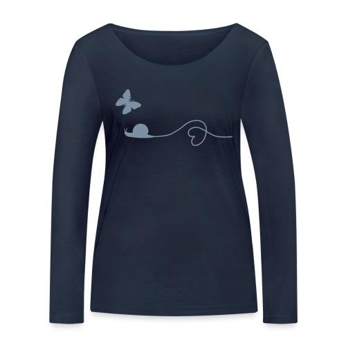 Fair, Öko & Bio-Kinder-Shirt / T-Shirt Schnecke - Frauen Bio-Langarmshirt von Stanley & Stella