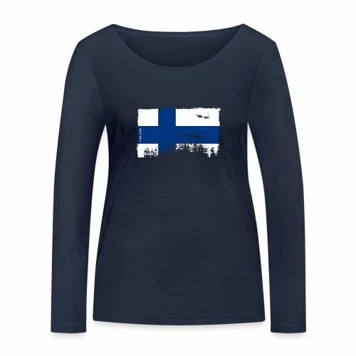 Suomen lippu, Finnish flag T-shirts 151 Products - Stanley & Stellan naisten pitkähihainen luomupaita