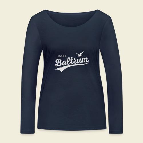Baltrum-Logo Möwe - Frauen Bio-Langarmshirt von Stanley & Stella