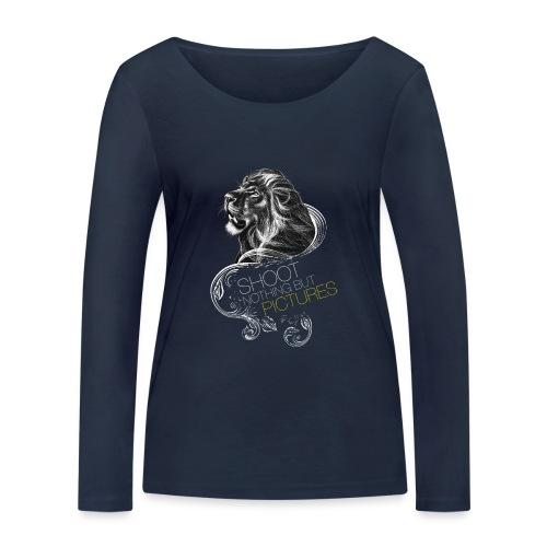 Cecil leeuw op zwart NEW - Women's Organic Longsleeve Shirt by Stanley & Stella