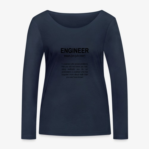 Engineer Def. 2 Black - T-shirt manches longues bio Stanley & Stella Femme