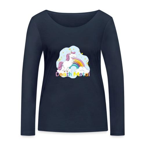 unicorn death metal - Vrouwen bio shirt met lange mouwen van Stanley & Stella