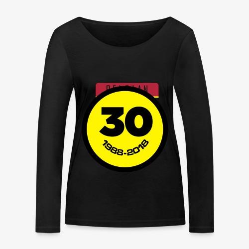 30 Jaar Belgian New Beat Smiley - Vrouwen bio shirt met lange mouwen van Stanley & Stella