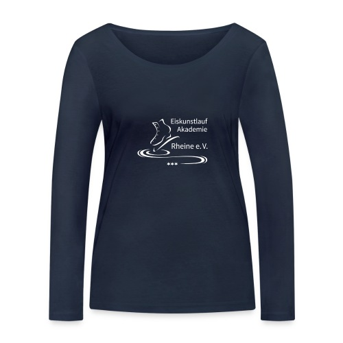 EARheine Logo weiss - Frauen Bio-Langarmshirt von Stanley & Stella
